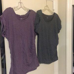 LOFT Women's Striped Shirts, Both Size Medium